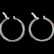 Vintage | Sterling Silver 2-Inch Hoop Earrings