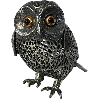 Christofle Pierced Silverplate Owl 'Lumiere D'Argent Collection'