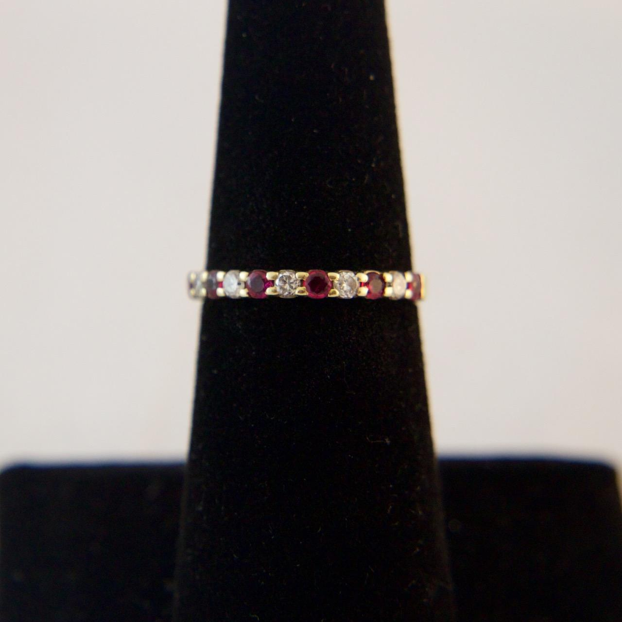 14K Gold Diamond And Ruby Band SOLD On Ruby Lane