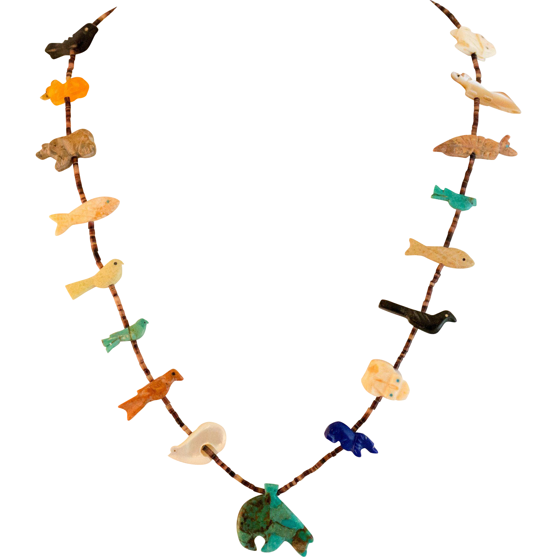Zuni Fetish Necklace 16