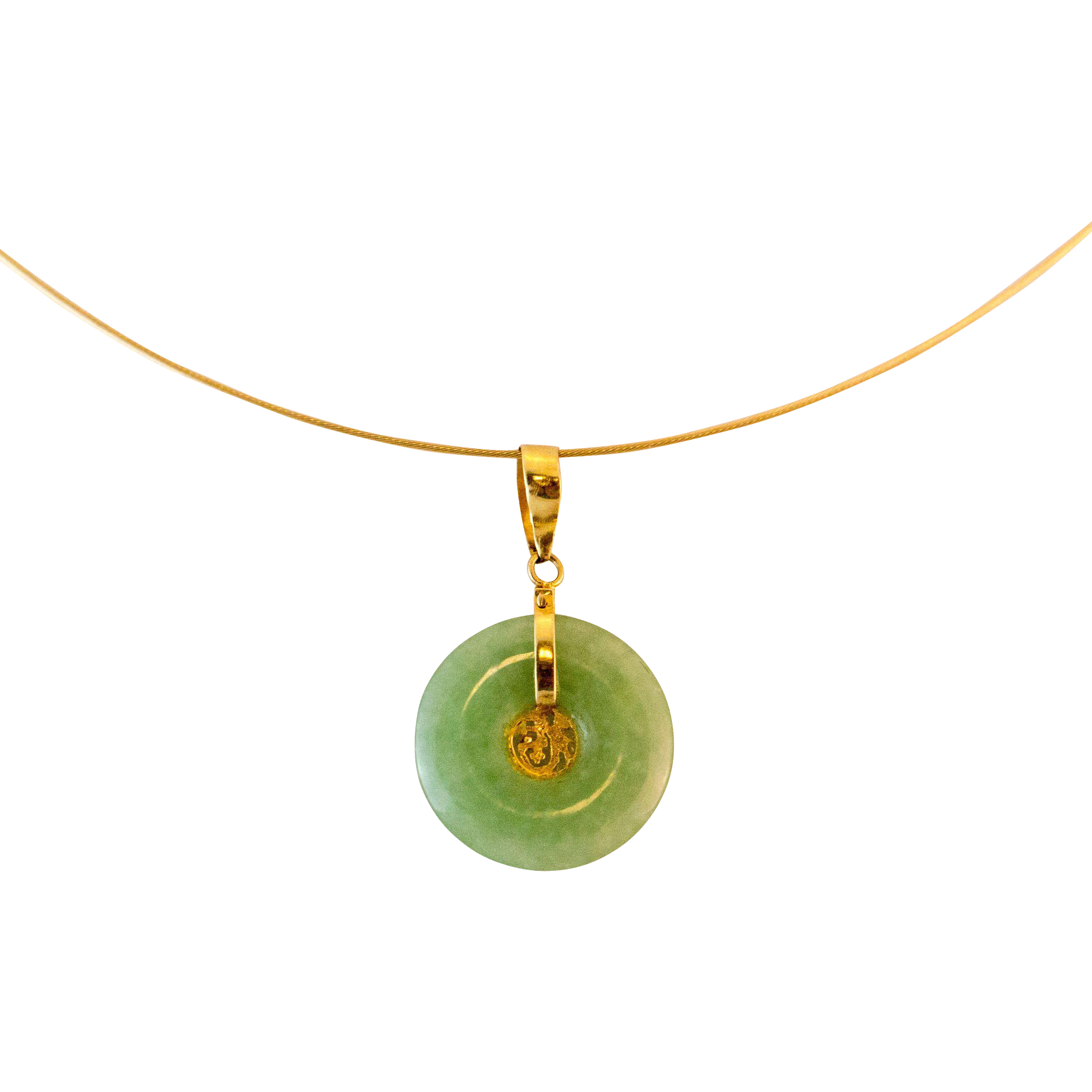 vaults necklace pendant crystal chinese jade nephrite