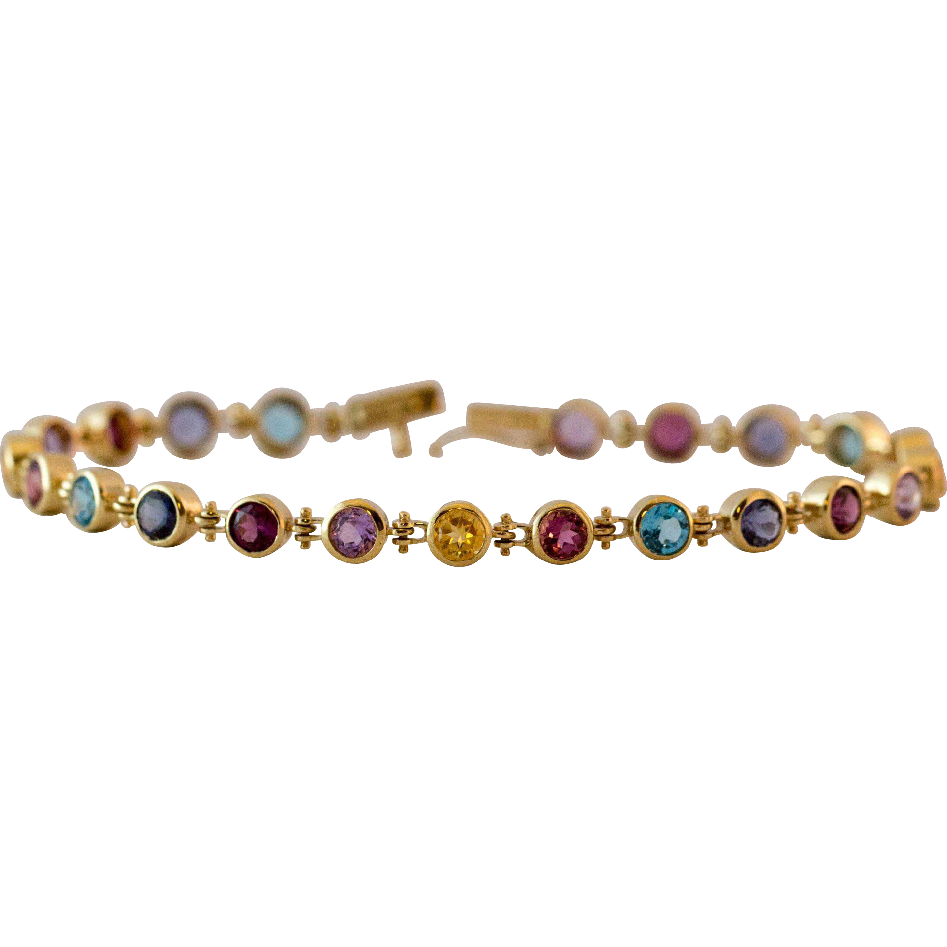 m three bracelet cabochon colored and diamond tone sapphires gold multi tourmaline p gemstone