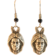 Sterling Silver Indian Brave Heads on Shepherd's Hooks
