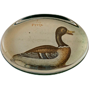 Reverse Painted Mallard Duck Paperweight