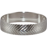 Beautiful Sterling Silver Chevron Bangle Bracelet