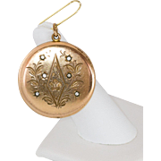Victorian Gold Filled Paste Locked With Floral Motif