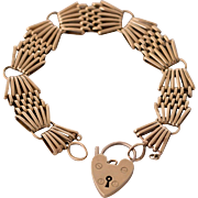 9K English Antique Gate Bracelet
