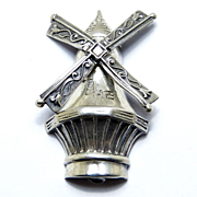 Lang Designer Sterling Silver Windmill Pin