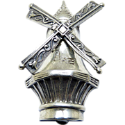 Lang Designer Sterling Silver Windmill Pin