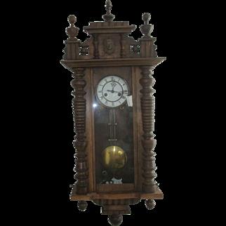 Gustav Becker Vienna Regulator Wall Clock
