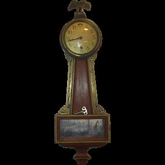 Waterbury #1 Reversed Painted Banjo Clock