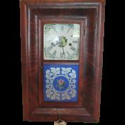Waterbury 30 HR Reversed Painted Ogee Shelf/Wall Clock