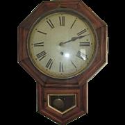 E.N Welch 1800s Octagon Wall Schoolhouse Clock