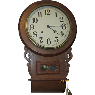 E.N. Welch Drop Wall Clock
