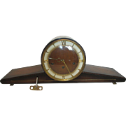 German Art Deco Frans Hermle Sohn Westminster Chime Mantel Clock
