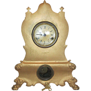 1859 Geo B Owen Cast Front Hour Strike Parlor  Clock