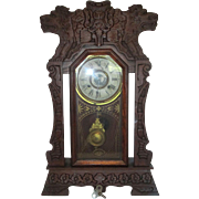 New Haven 8 Day Norwich Line Gingerbread Clock