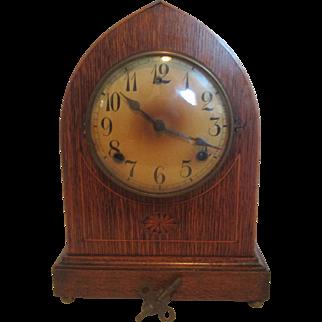 Wm Gilbert 1896 Gothic Bedford Mantel Clock
