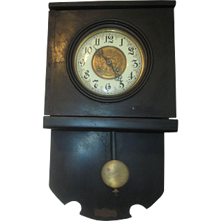 Antique Schlenker & Kienzle Free swinger Open Pendulum Wall Clock