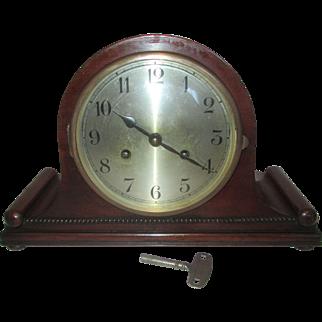 Antique August Schatz + Son Top Hat Mantel Clock
