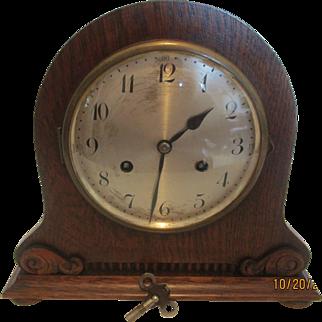 Antique Junghans Wooden Mantle Clock