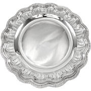 """FROMENT-MEURICE : Antique French Sterling Silver 12.8"""" Serving Platter or Dish"""
