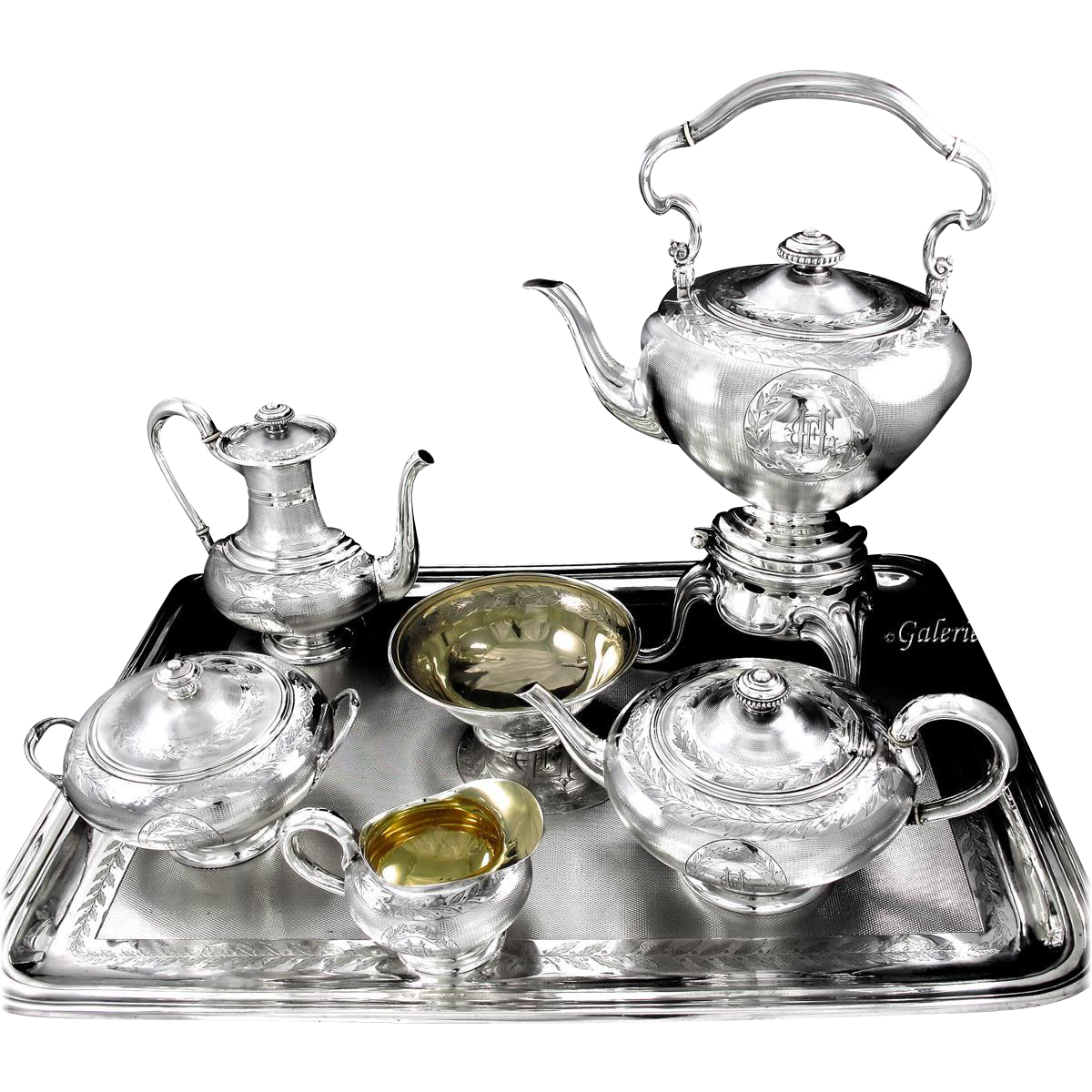 Odiot Antique French 6pc Sterling Silver 6pc Tea
