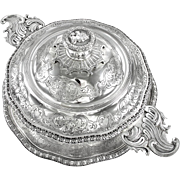 FRAY : Antique French Sterling Silver Regency style Ecuelle Tureen & Stand