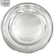 JBC ODIOT : Rare Antique 18th century French Sterling Silver Platter / Tray w/ Royal Armorial PARIS 1796-97