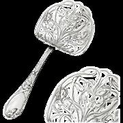 PUIFORCAT : Antique French Art Nouveau IRIS Sterling Silver Asparagus Server