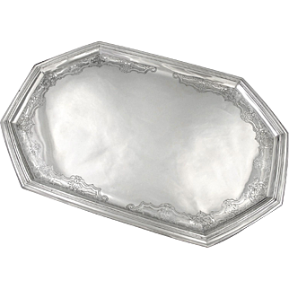 MELLERIO TETARD : Antique French Sterling Silver Regency style Tray