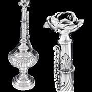 "BOIVIN : Rare Antique French Sterling Silver 14.6"" Rose Water Sprinkler - 788 grams!"