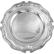 "Exquisite Antique French Art Nouveau ""POPPY"" Sterling Silver Serving Platter or Tray"