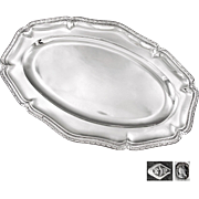 """PUIFORCAT : Antique French Sterling Silver 16.8"""" Serving Platter or Tray"""