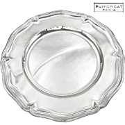 """PUIFORCAT : Huge Antique French Sterling Silver 16.7"""" Round Serving Platter or Tray"""