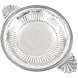 """BARDIES : Antique French Sterling Silver 11"""" Footed Ecuelle style Serving Dish"""