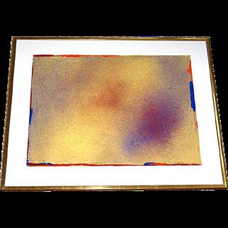 "Jules Olitski Original Pencil Signed Six-Color Silkscreen Serigraph ""Toora"" 1986 Professionally Framed Ed. of 125"