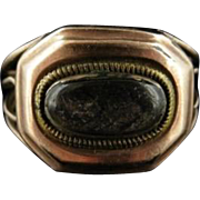 Georgian 18ct Yellow Gold Mourning Ring Dated 1808