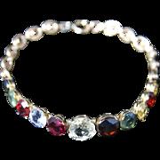 Victorian Gemstone Gold Bracelet - Circa 1880 - Sapphires