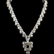 Antique Georgian Paste Necklace With Pendant - Circa 1800