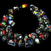 Antique Victorian Millefiori Long Necklace
