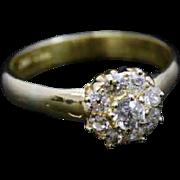 Victorian Diamond Cluster Ring – 18ct Yellow Gold Circa 1900