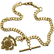 Victorian Gold/silver Albert With Medallion Circa Dated 1902 - 18ct