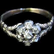 Antique Georgian Diamond Cluster Ring - 18ct Gold - Circa 1800