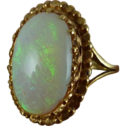 Victorian Opal Gold Ring – 10ct Natural Opal & 18ct Gold Circa 1880