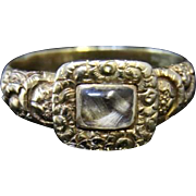 Antique Georgian 18ct Gold Mourning Ring - Circa 1800