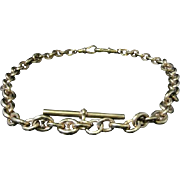 Antique Victorian Silver/gold Gucci Link Albert Chain - Circa 1900