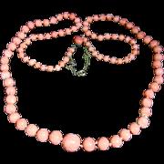 Victorian Long Coral Necklace - Circa 1890