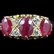 Victorian Ruby & Diamond 18ct Gold Ring