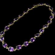 Victorian Amethyst Necklace Collar Circa 1880 - 18ct Gold